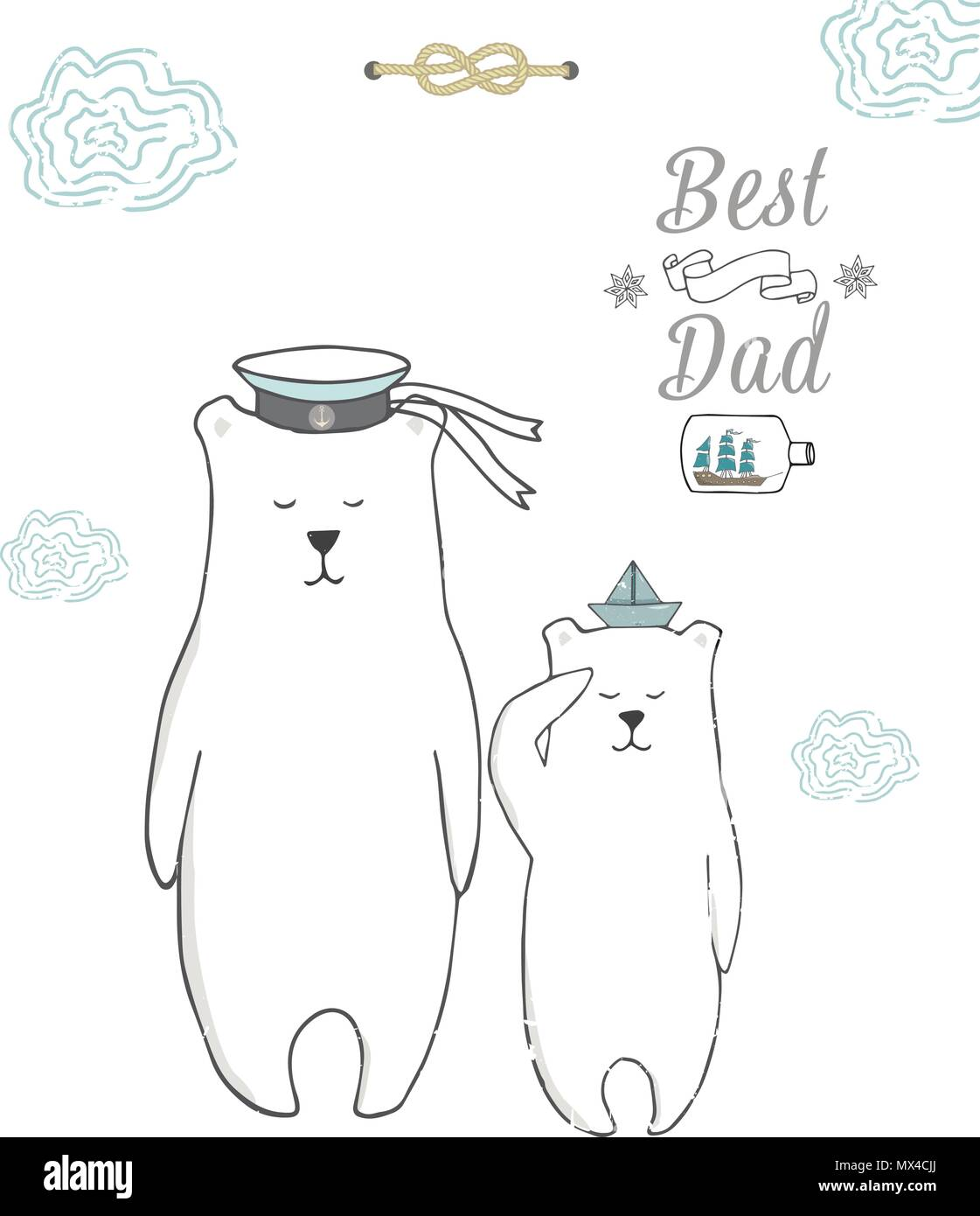 best dad happy fathers day background with blue tie ribbon and