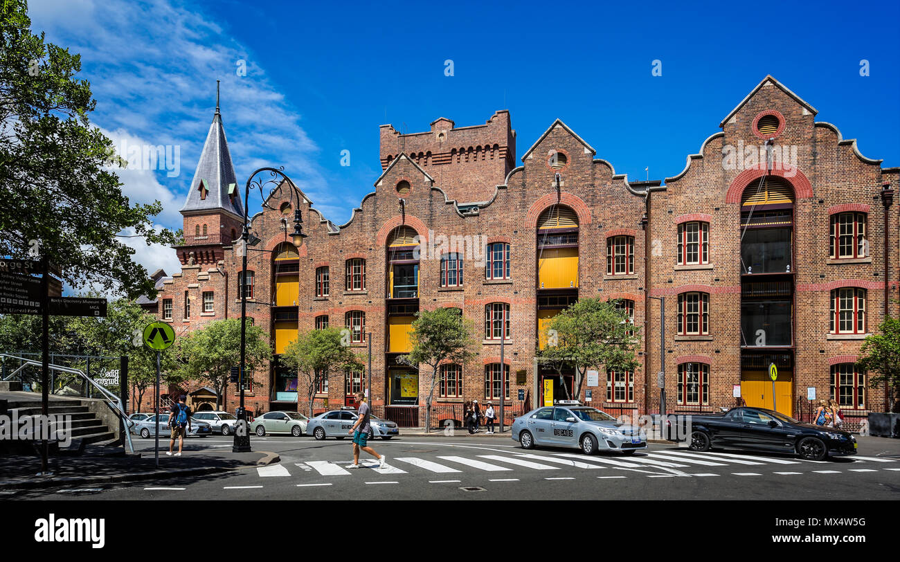 Heritage building in The Rocks, Sydney, NSW, Australia taken on 2 January 2018 Stock Photo
