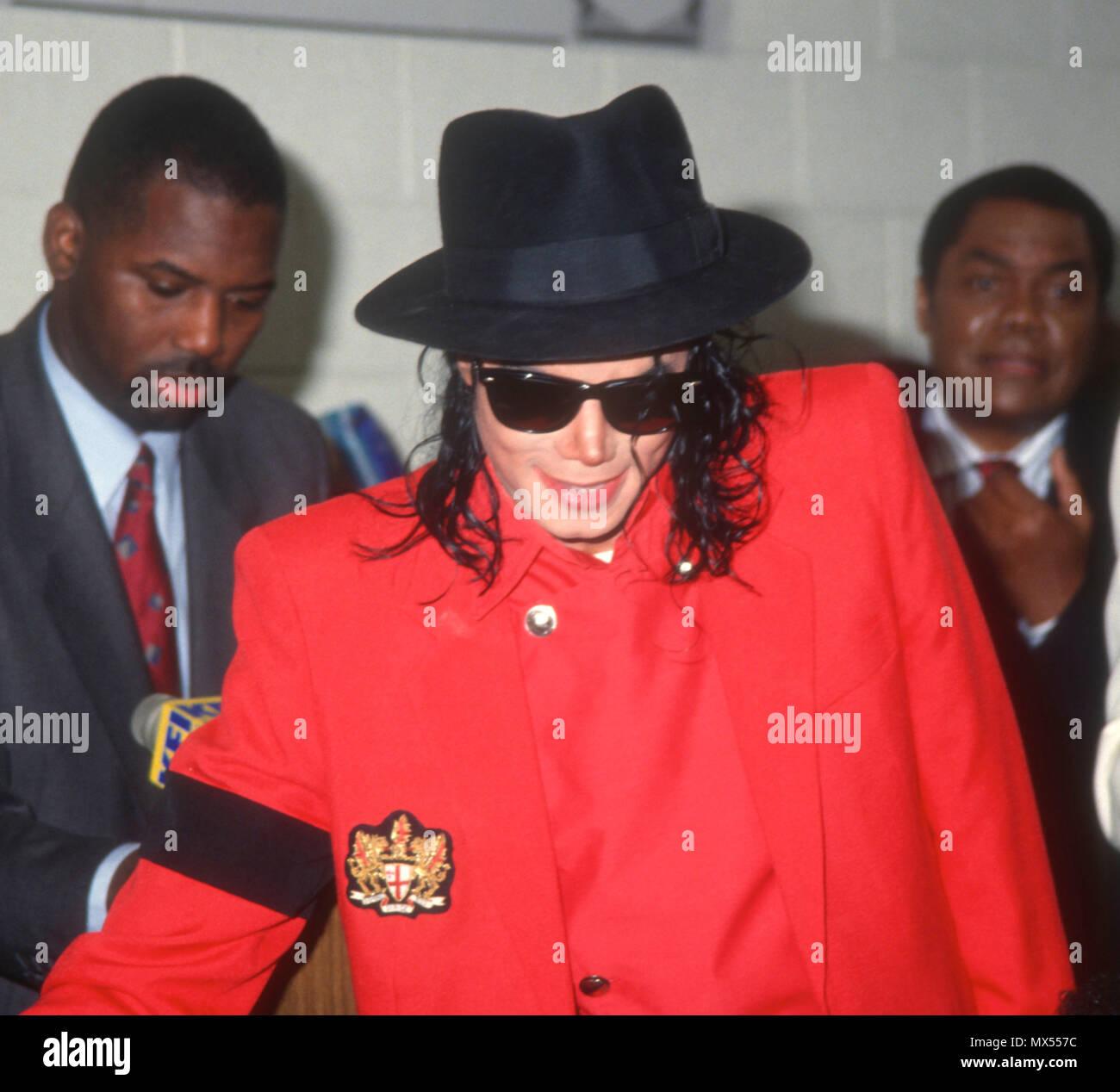 LOS ANGELES, CA - JULY 26: Singer Michael Jackson visits the