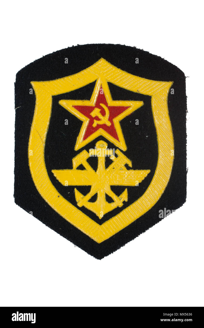 Soviet Army Corps Of Navy Engineers Badge Isolated Stock Photo