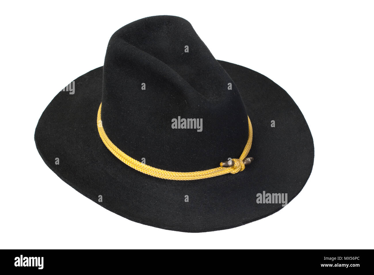 US Cavalry black hat isolated - Stock Image