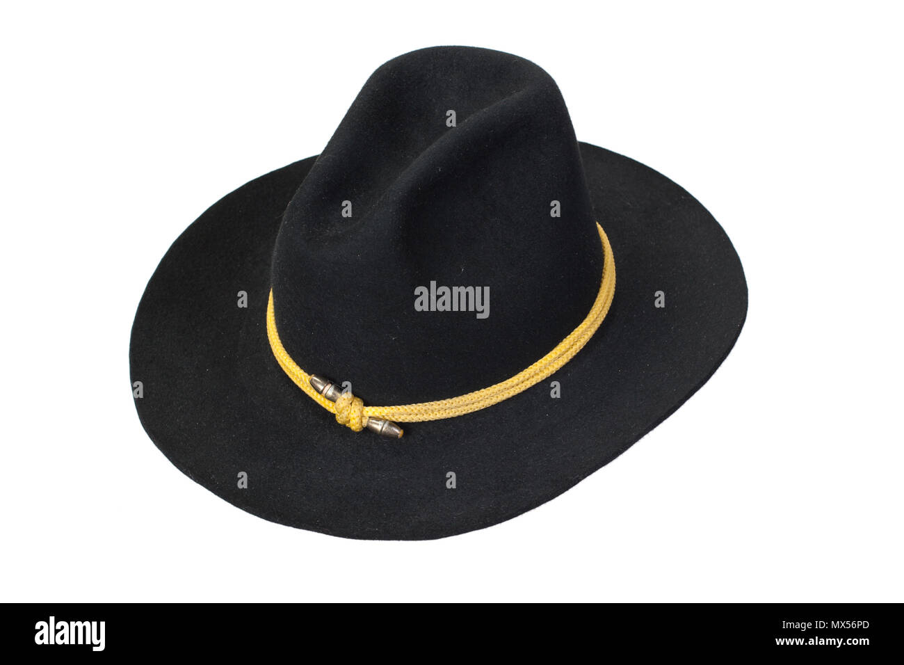 US Cavalry hat isolated - Stock Image