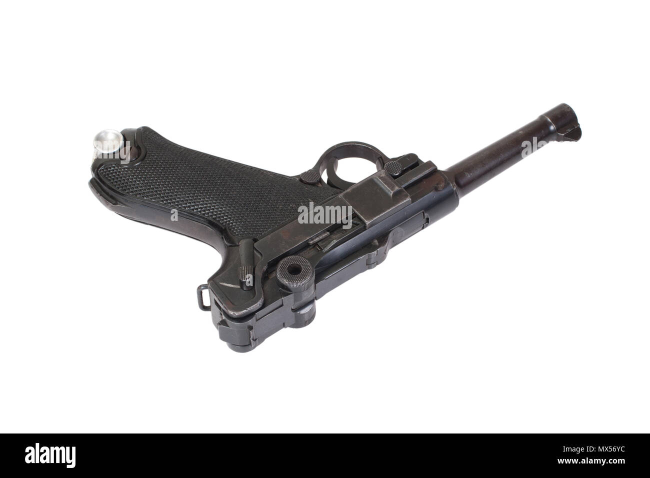 Luger - Parabellum handgun isolated - Stock Image