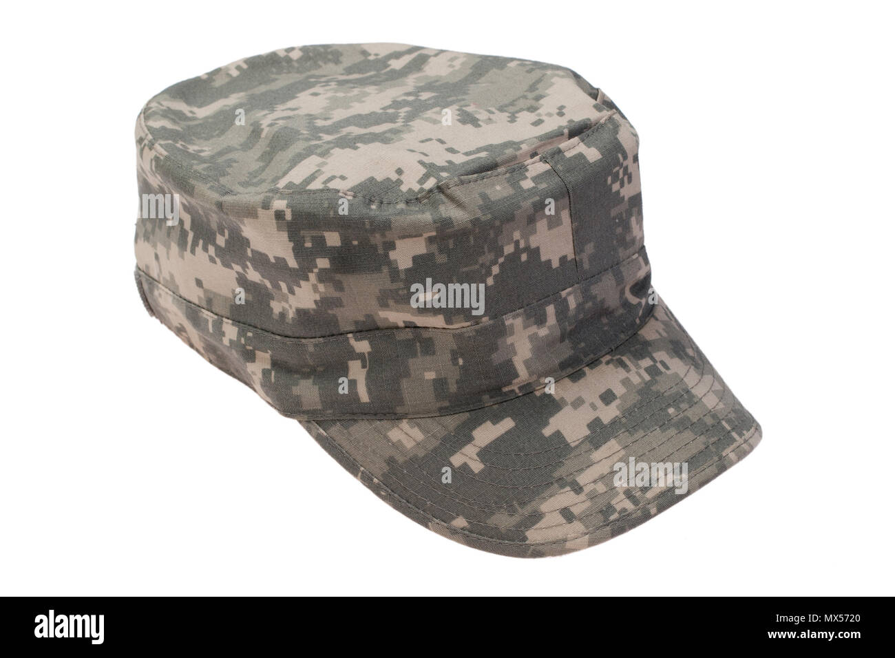 us army cap  on a white background - Stock Image