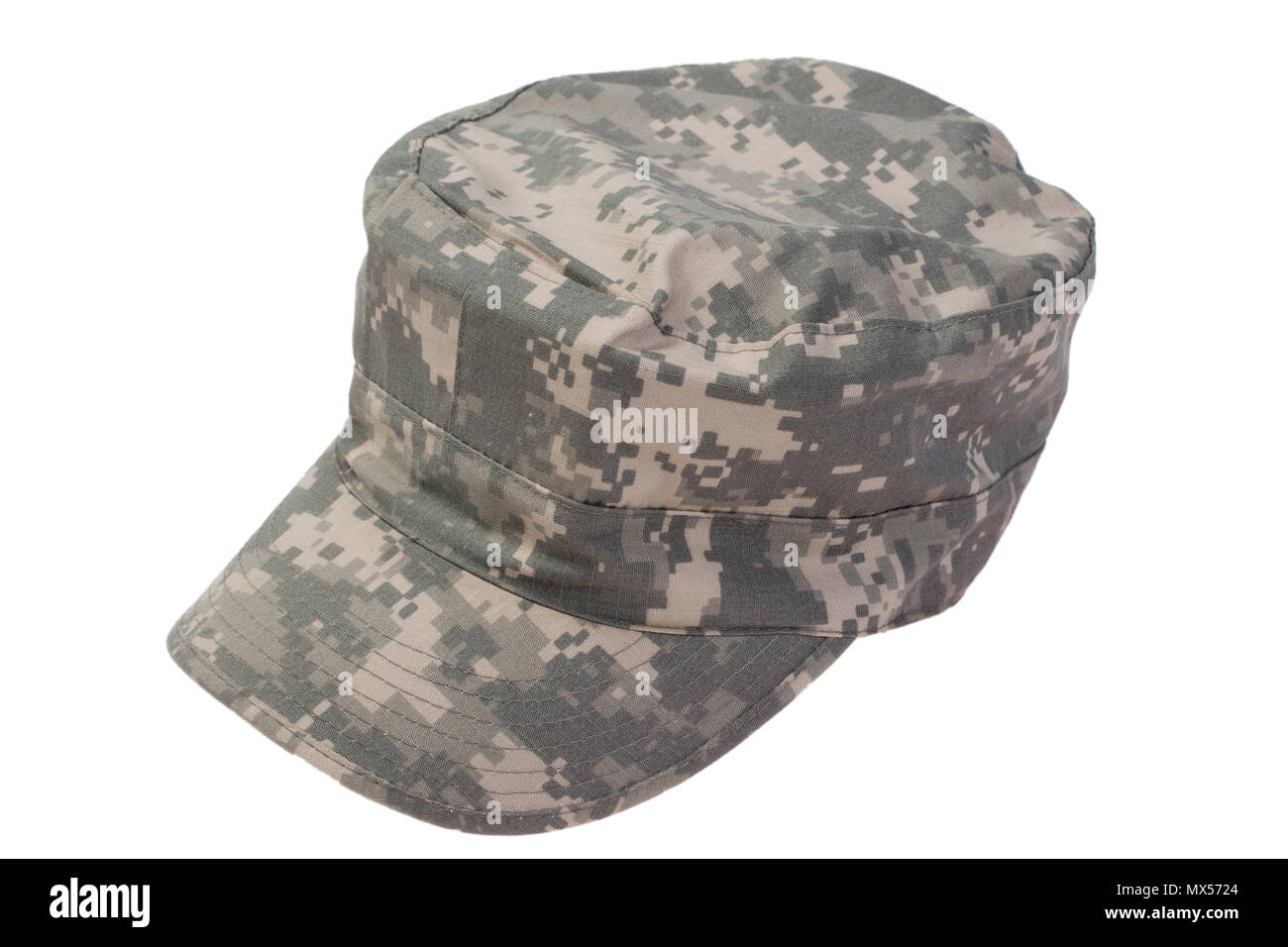 modern us army cap  on a white background - Stock Image