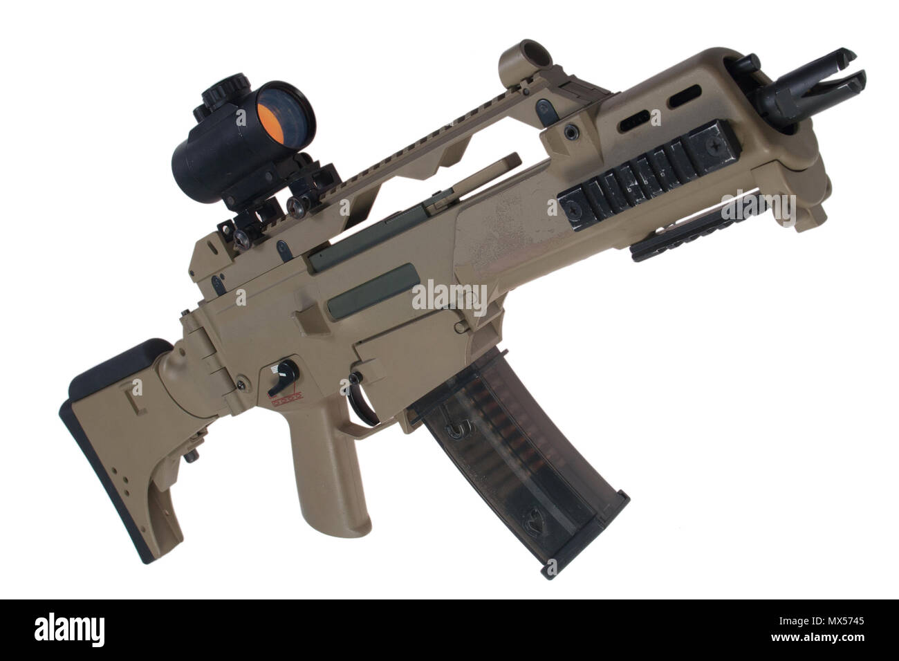 assault rifle G36 with scope - Stock Image