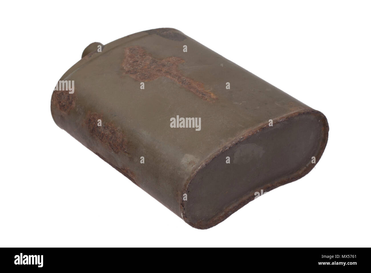 Vintage Austro-Hungarian military canteen WWI period - Stock Image