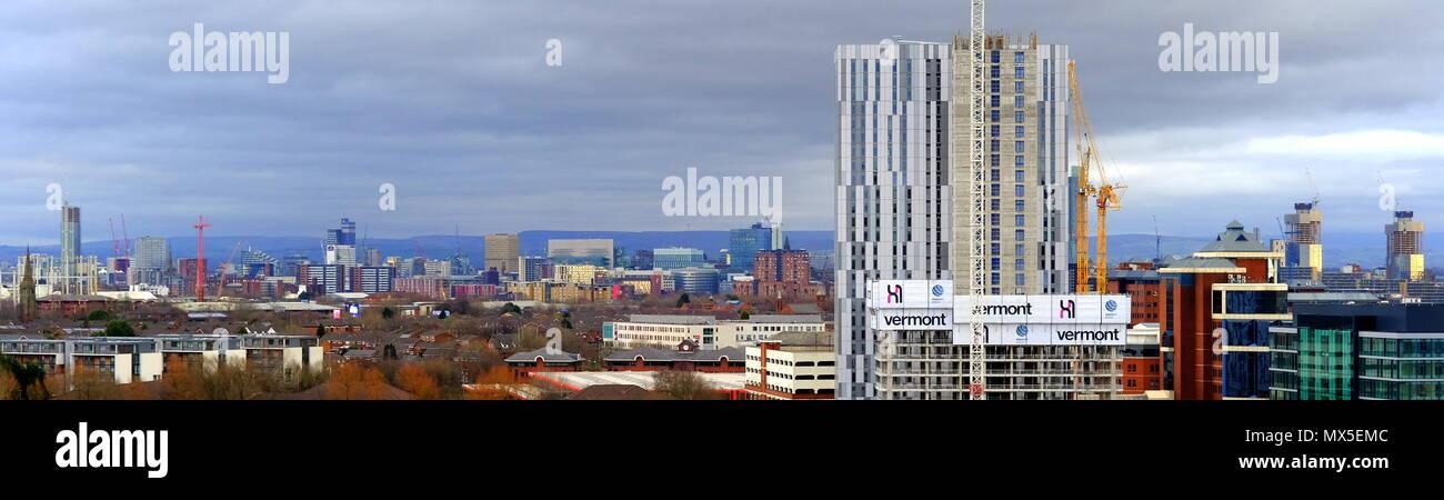 Manchester City Skyline  England UK 2018 - Stock Image
