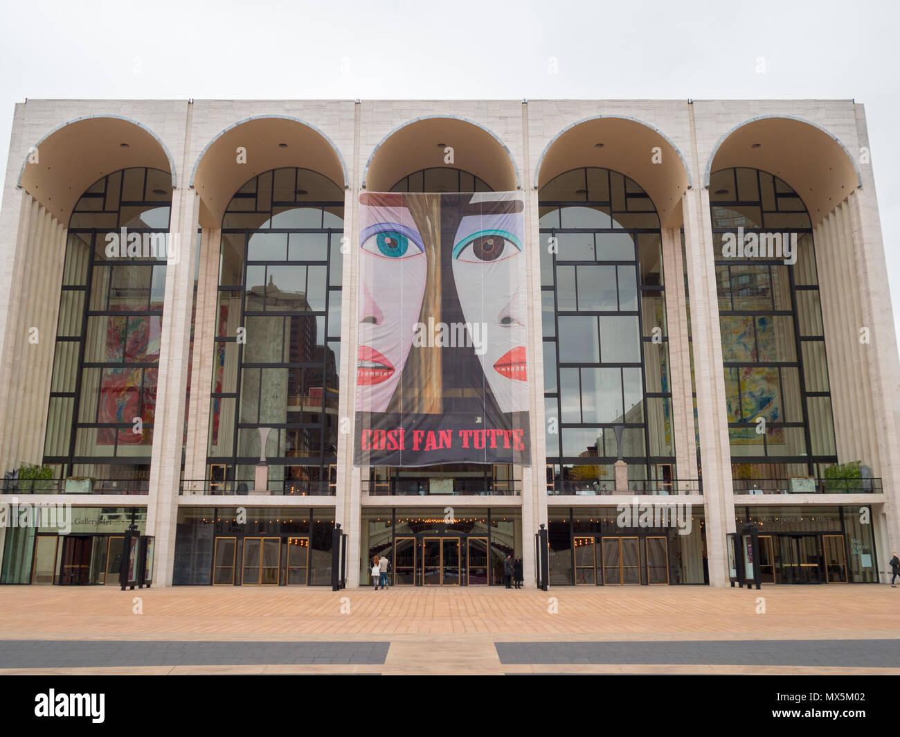 Metropolitan Opera at the Lincoln Center - Stock Image