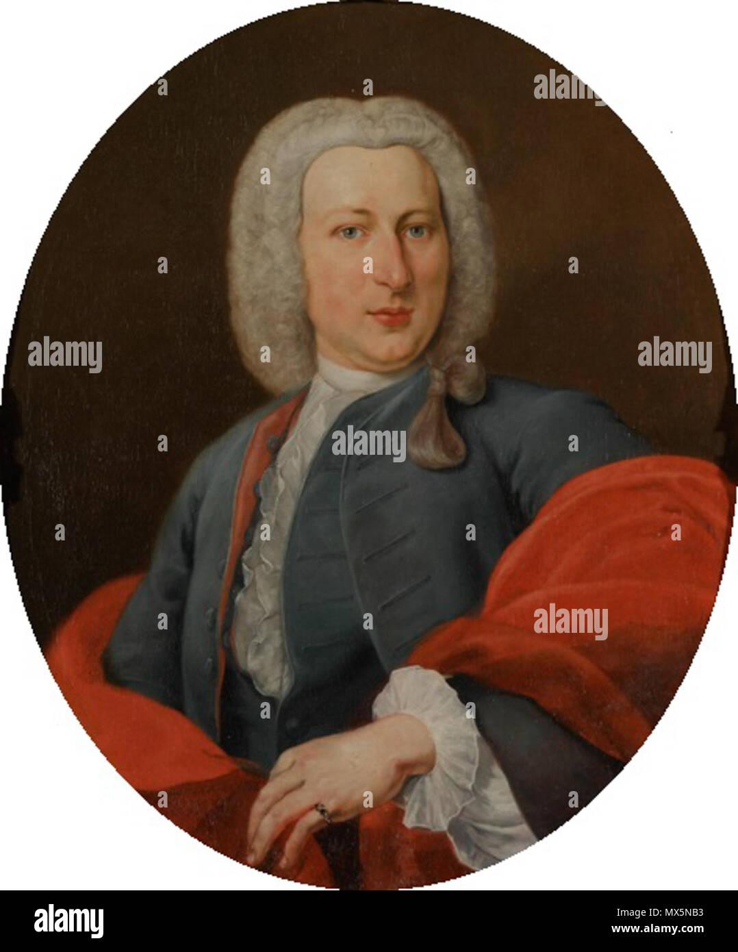 . Nederlands: Michiel van Bolhuis . 1739. Johannes Antiquus (1702-1750) 320 Johannes Antiquus - Michiel van Bolhuis - Stock Image