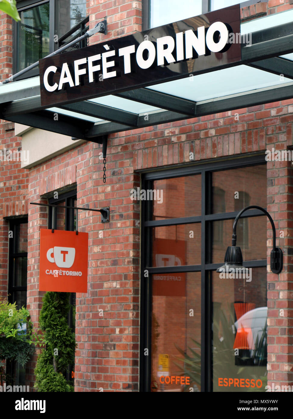 Caffè Torino storefront in South Lake Union neighborhood in Seattle. - Stock Image