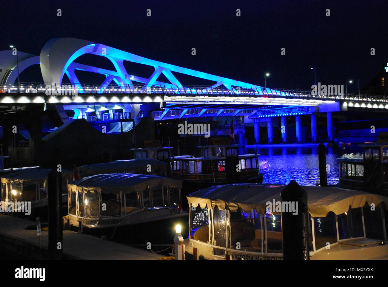 Johnson Street Bridge, Victoria, BC Canada Stock Photo