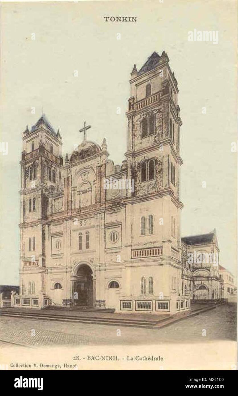 . Tiếng Việt: Nhà thờ chính tòa Bắc Ninh đầu thế kỷ XX . 21 September 2013, 20:32:10. Collection personnelle 119 Cathedrate Bac Ninh - Stock Image