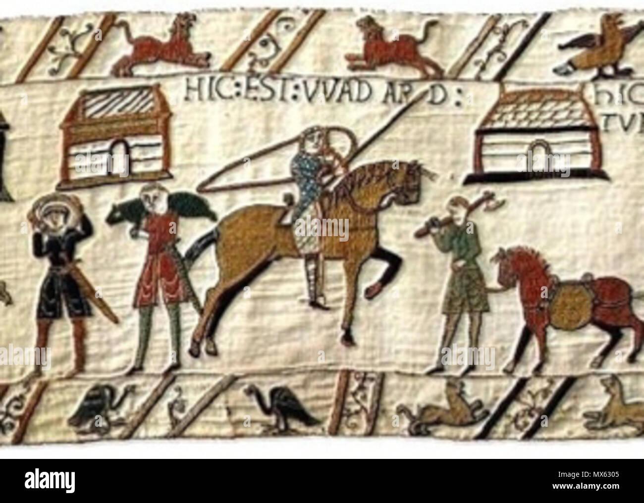 Français Le Chevalier Wadard Sur La Tapisserie De Bayeux Français Knight Wadard On Bayeux Tapestry 16