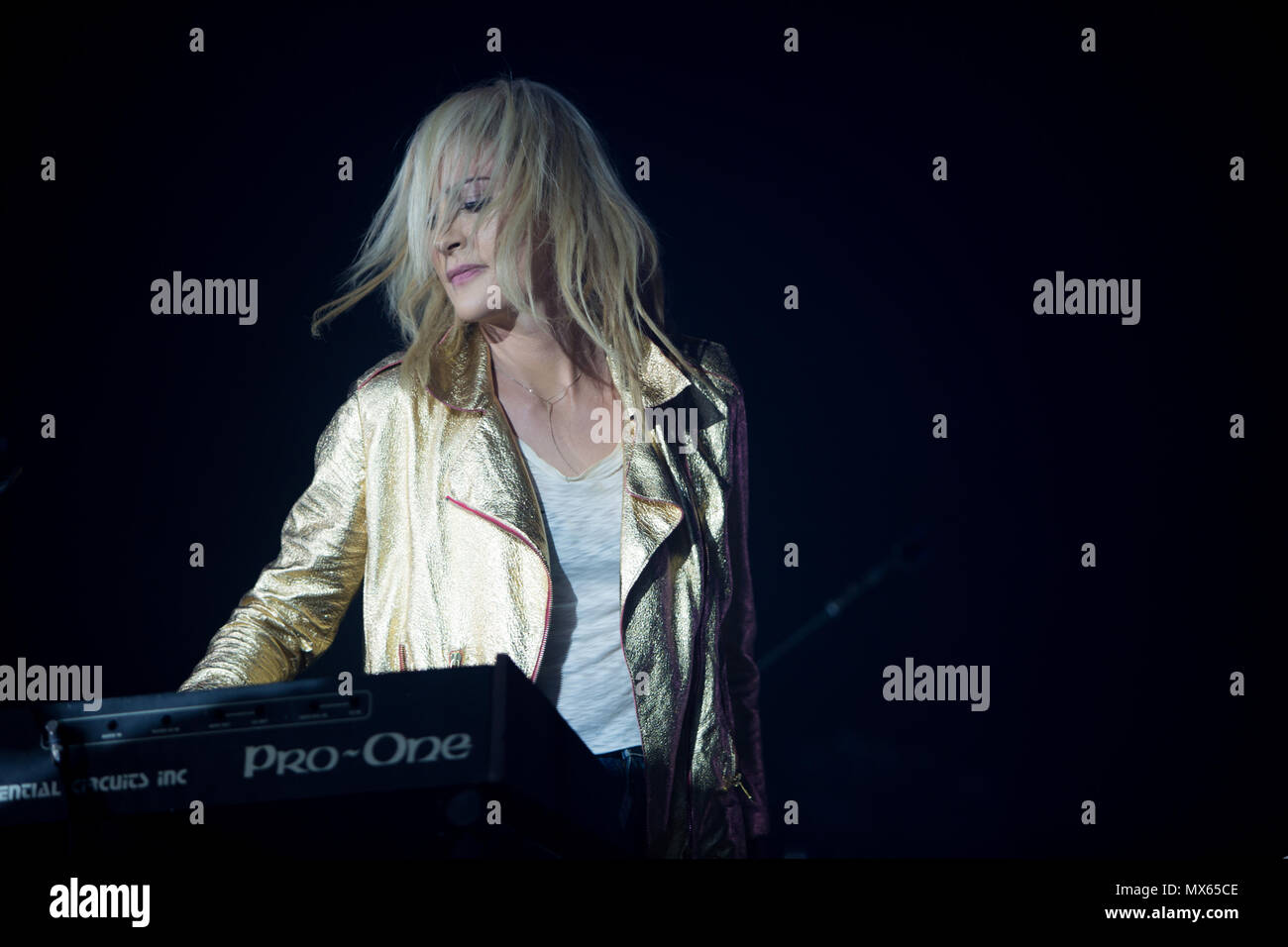 Toronto, CANADA. 02nd June 2018, Emily Haines of Canadian Pop Rock band Metric performas at the 2018 Field Trip Music & Arts Festival in Toronto. Credit: Bobby Singh/Alamay Live News Credit: topconcertphoto/Alamy Live News - Stock Image