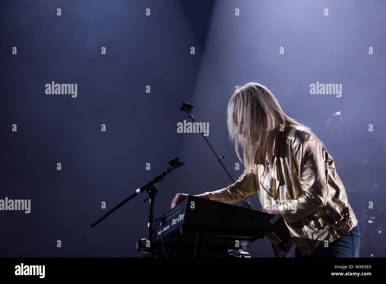 Toronto, CANADA. 02nd June 2018, Emily Haines of Canadian Pop Rock band Metric performas at the 2018 Field Trip Music & Arts Festival in Toronto. Credit: Bobby Singh/Alamay Live News Credit: topconcertphoto/Alamy Live News Stock Photo