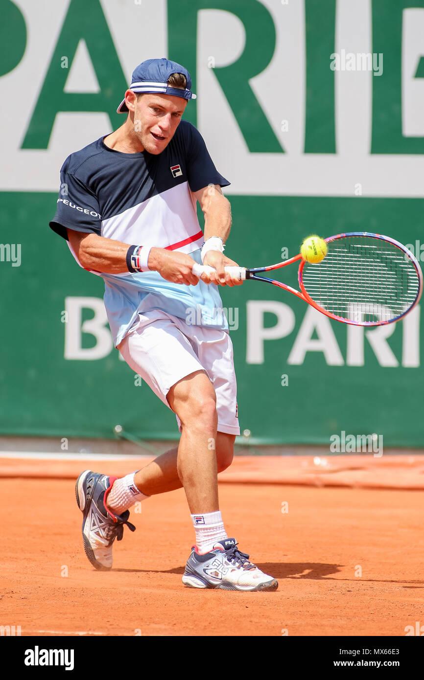 Diego Schwartzman Arg June 2 2018 Tennis Diego Schwartzman Of Argentina During The Men S Singles Third