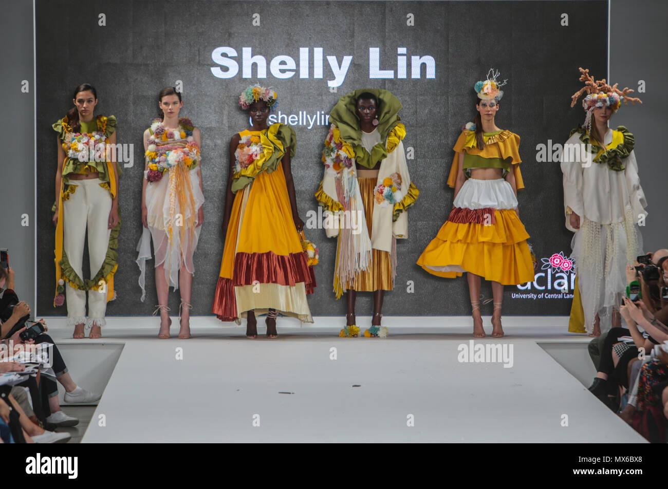 London Uk 03 June 2018 Graduate Fashion Week The Largest Showcase Of Ba Fashion In The