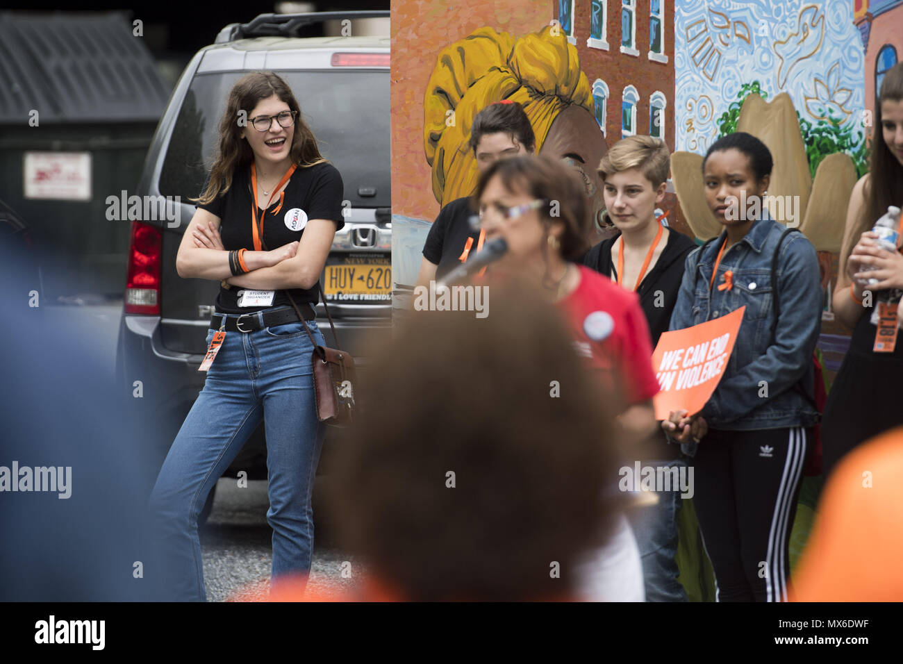 Poughkeepsie New York Usa 3rd June 2018 Emme Magliato Left Moffat Wiring Diagram Looks On During A Protest For Gun Law Reform And School Safety Sunday 3