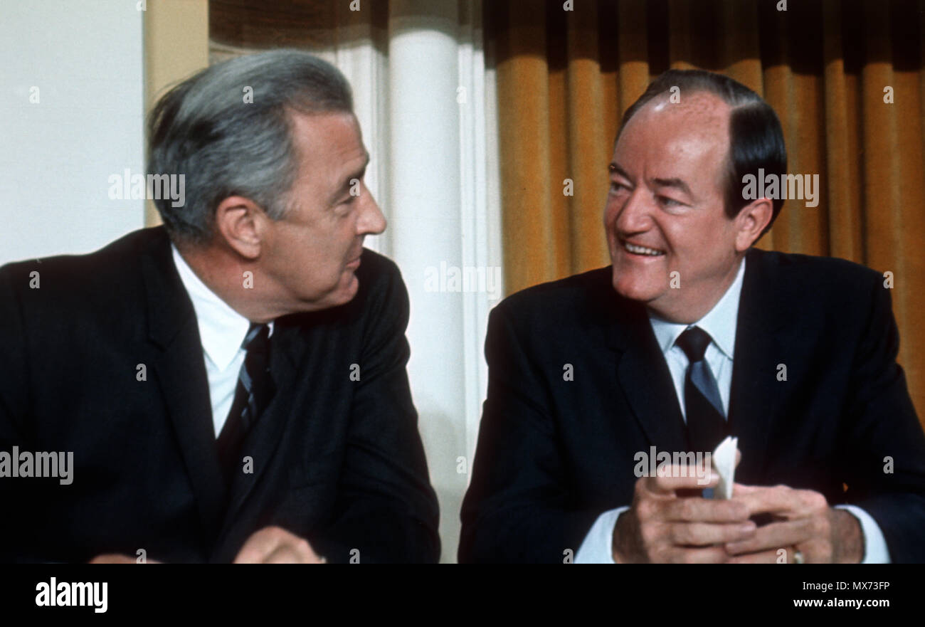Chicago, Il 1968/06/27 Eugene McCathy and Hubert Humphrey  At the Democratic Convention in Chicago, Il. in 1968  Photo by Dennis Brack B 9 Stock Photo