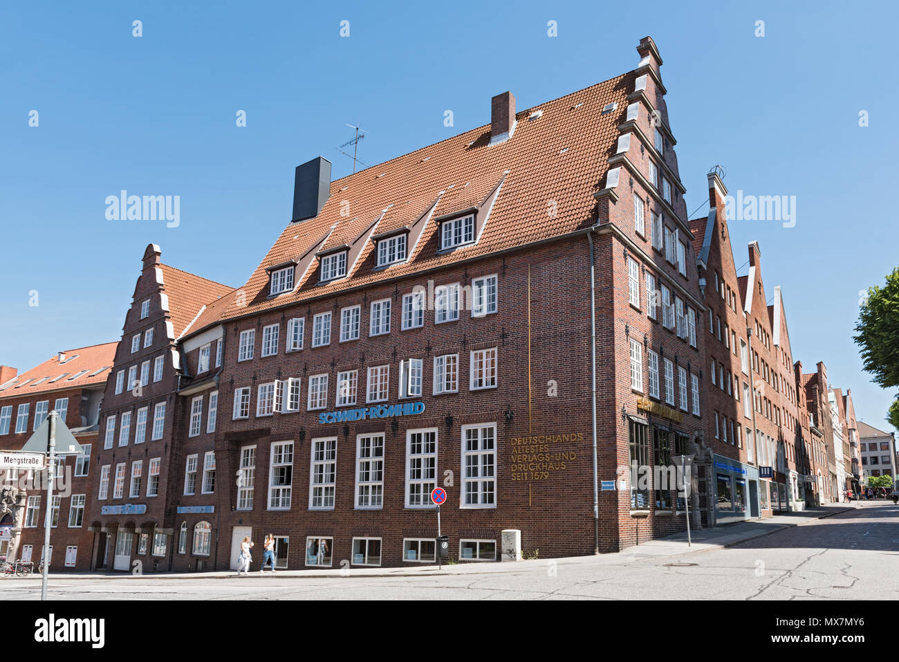 The oldest printing and publishing house in lubeck, germany - Stock Image