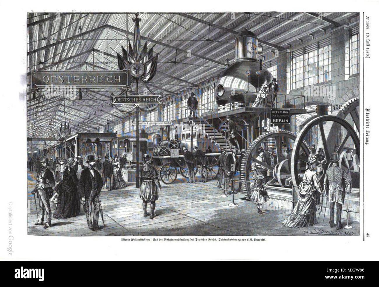 Deutsch Expo 1873 Ausstellung Deutsches Reich 1873 Illustrirte