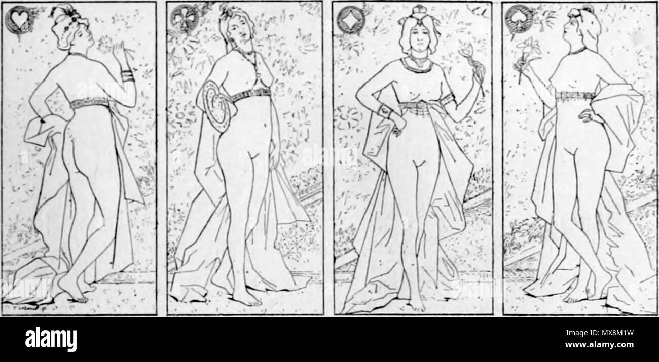 .  Français: Les quatre Dames . 1895. Fernand Le Quesne 207 Fernand Le Quesne - Les quatre Dames - Stock Image