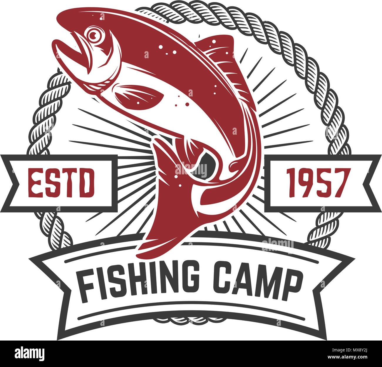 Fishing Vector Logo Design Template Stock Photos & Fishing Vector ...
