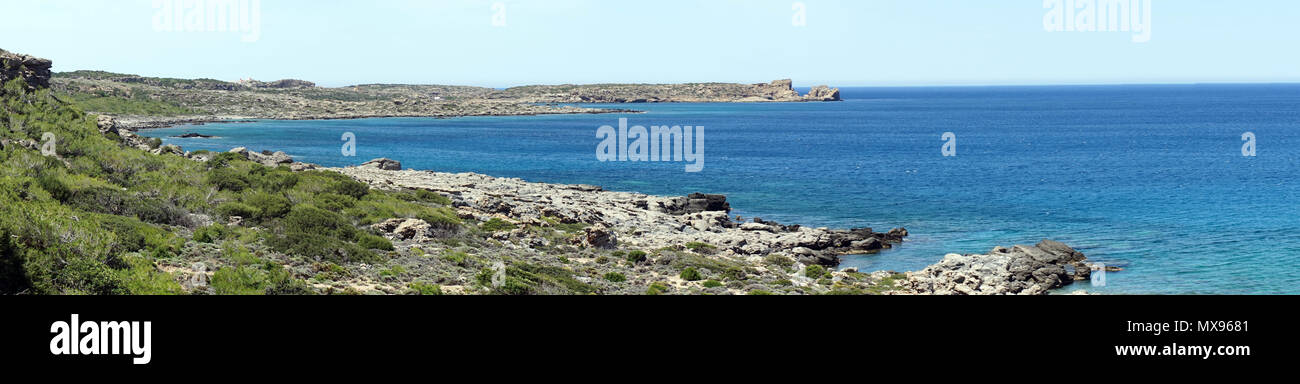 West coast of Krete island, Greece Stock Photo