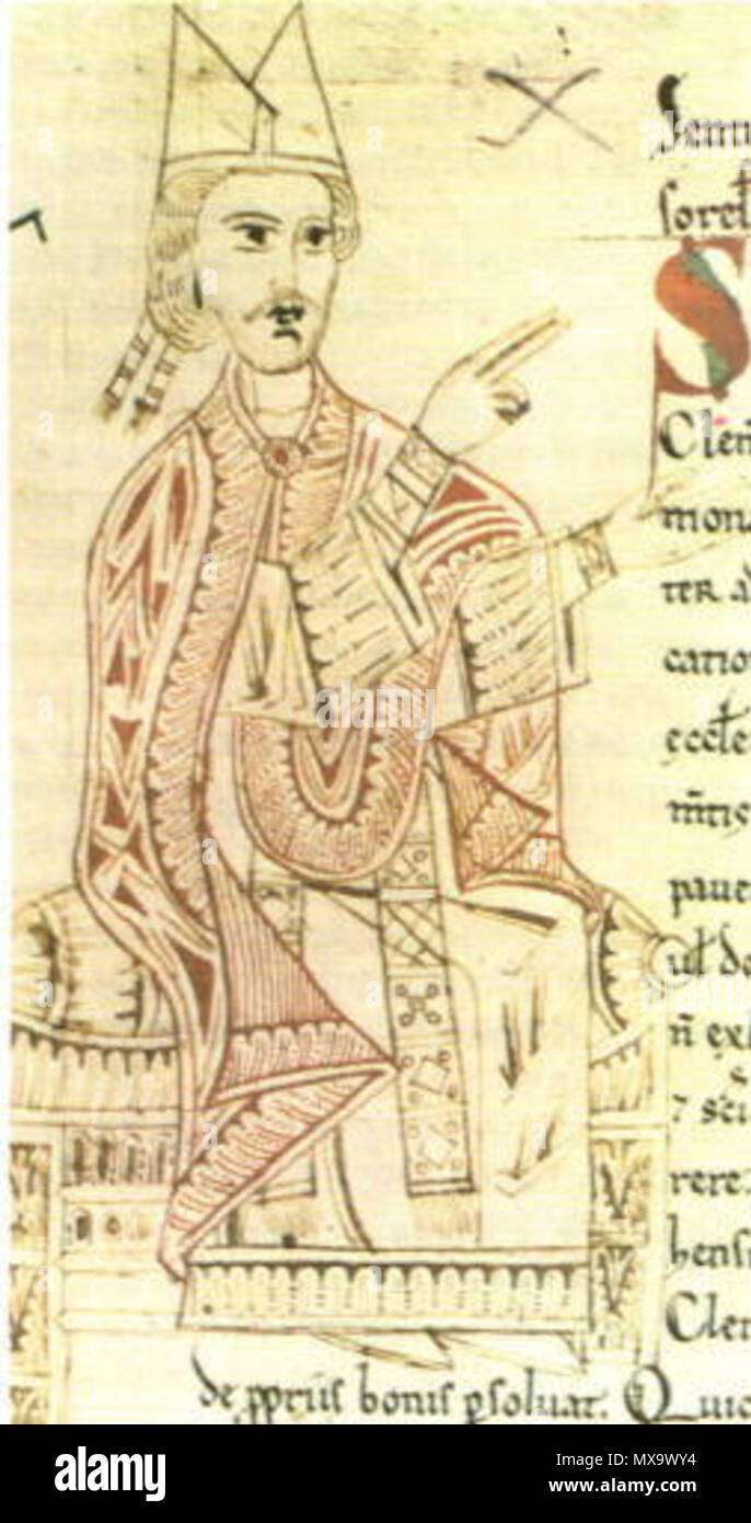 . English: Pope Gregory VII . user:GDK 255 Gregory VII - Stock Image
