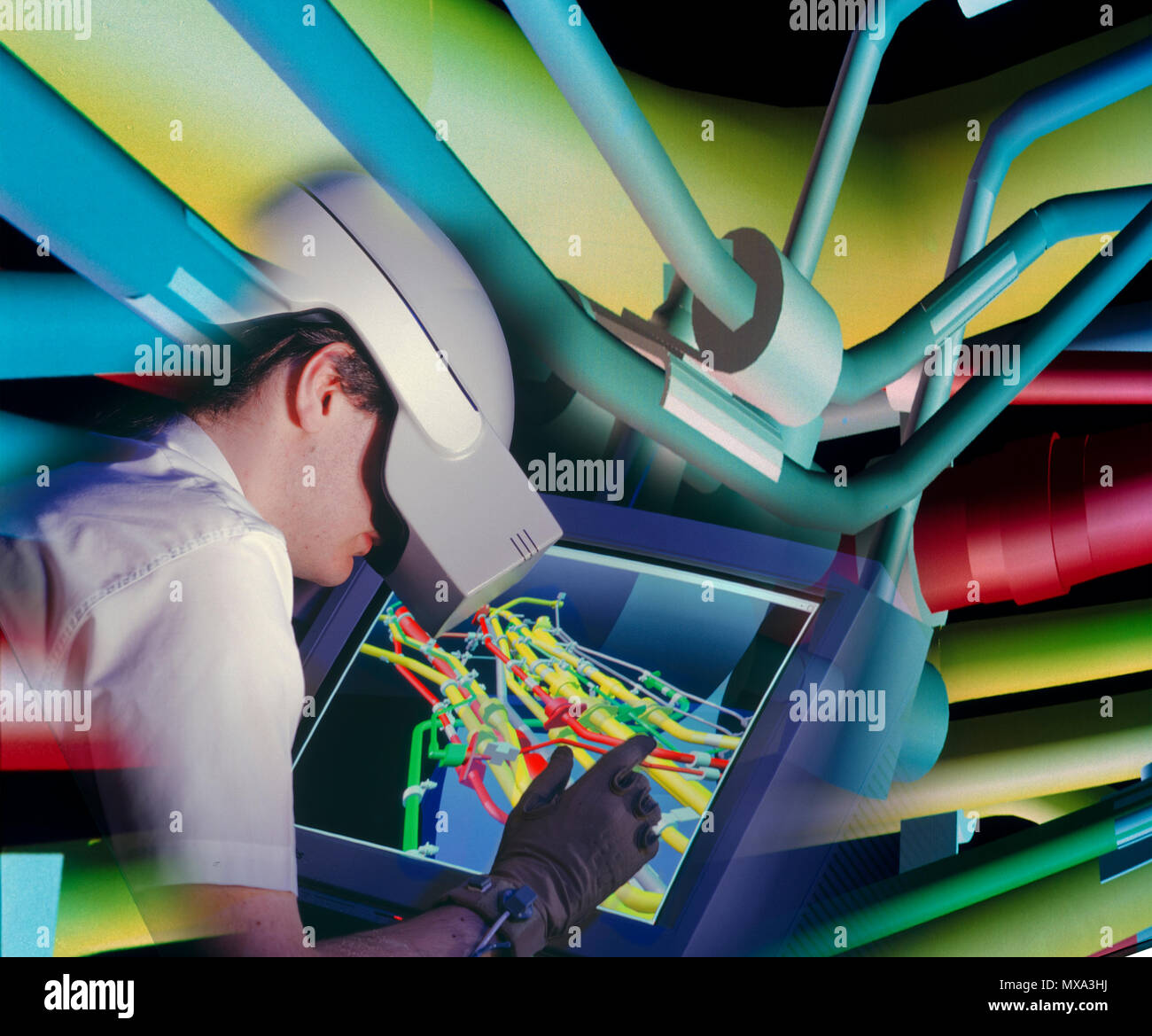 Nuclear engineering using augmented reality techniques - Stock Image