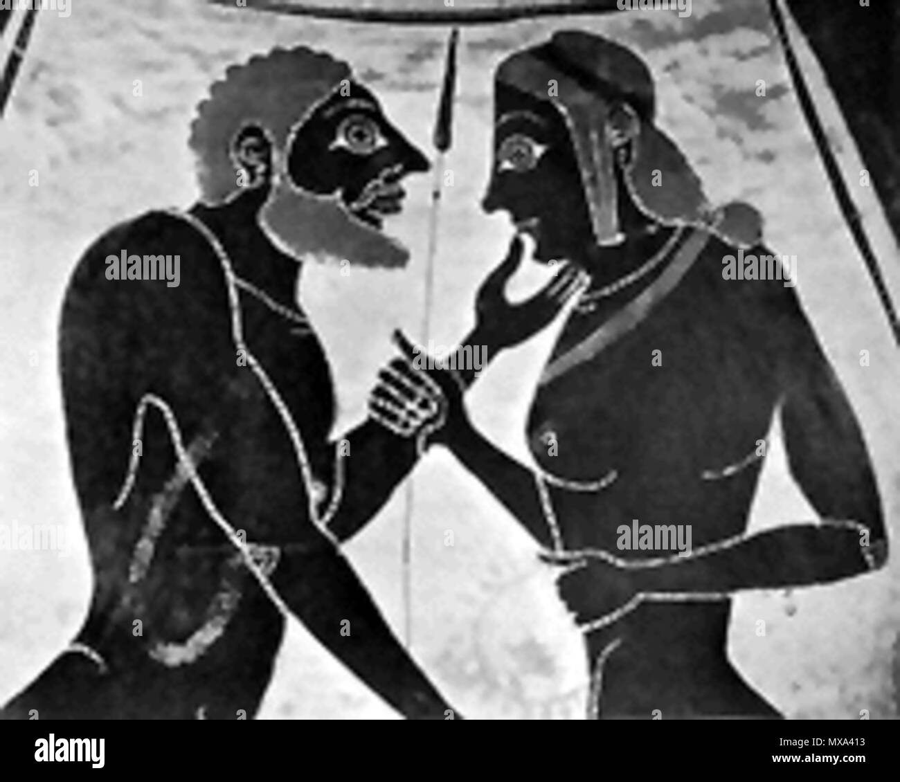 . Ancient Greek vase detail? . This file is lacking author information. 284 Homosex - Stock Image