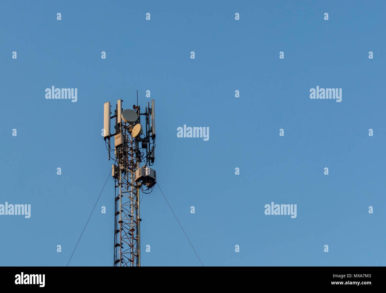 Mobile Network Antenna Stock Photos & Mobile Network