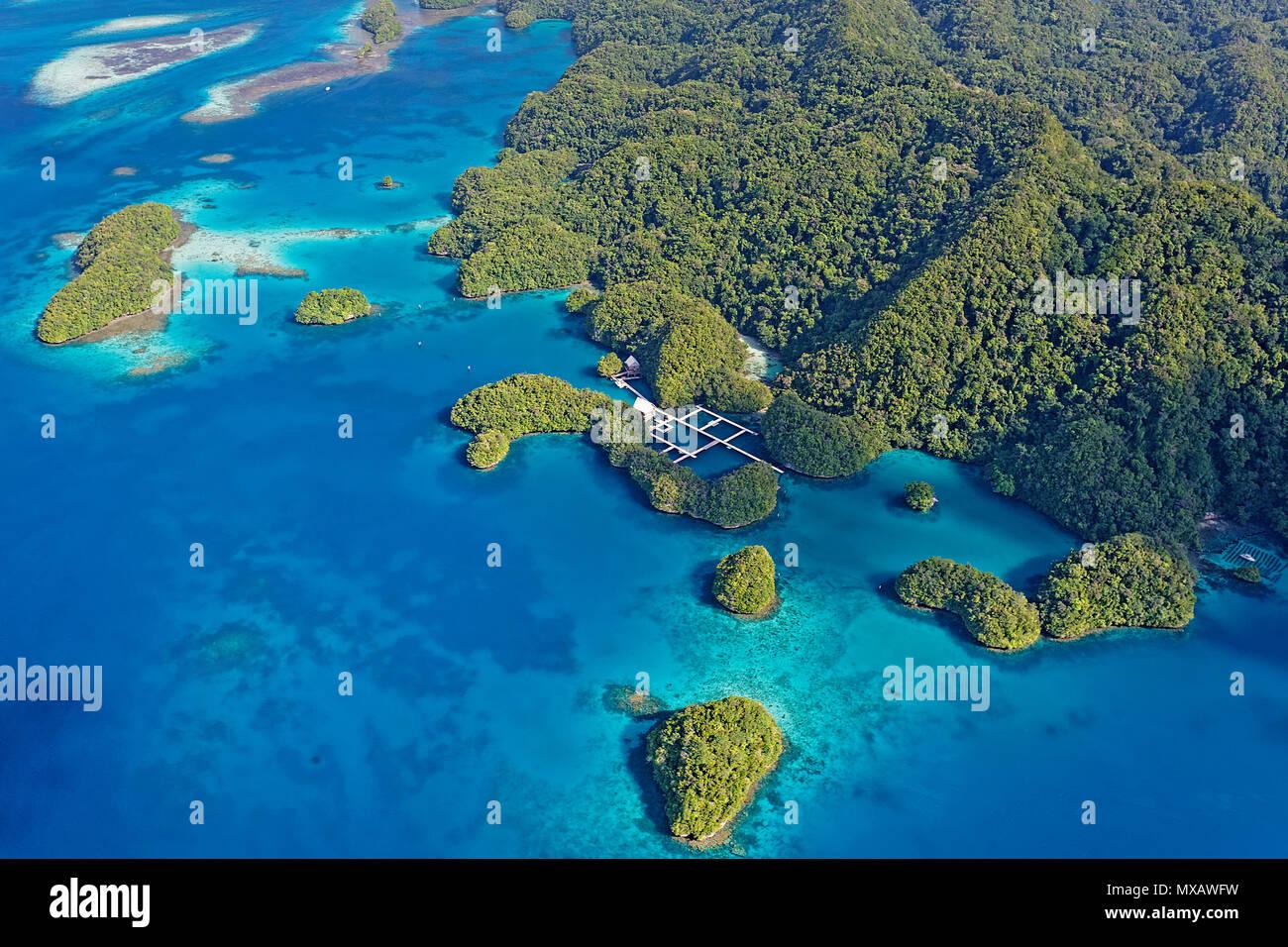 Luftaufnahme von Palau, Mikronesien, Asien | Aerial view of Palau, Micronesia, Asia - Stock Image