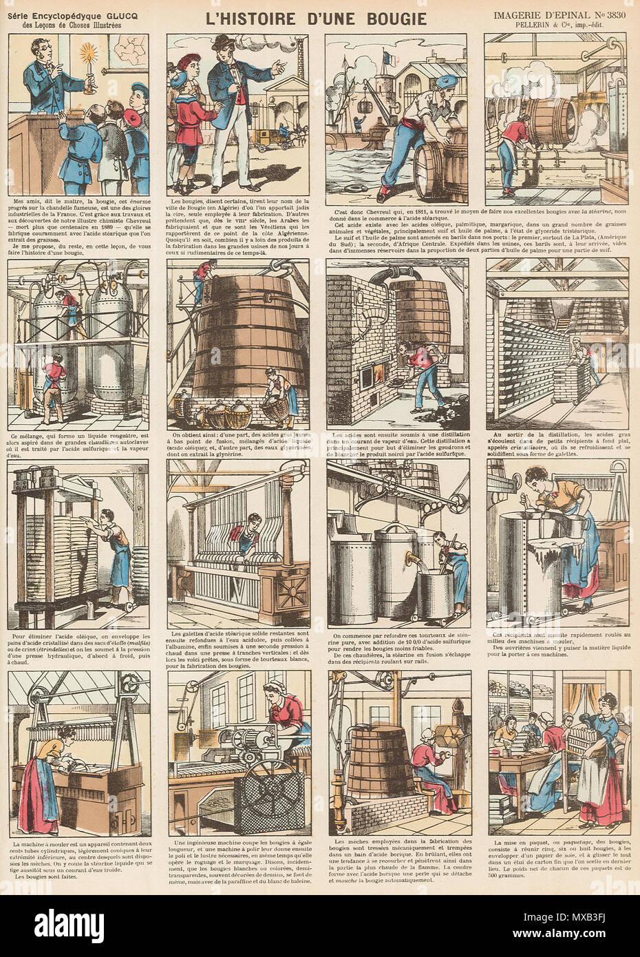 295 Imagerie d'Épinal n°3830 - l'histoire d'une bougie Stock Photo