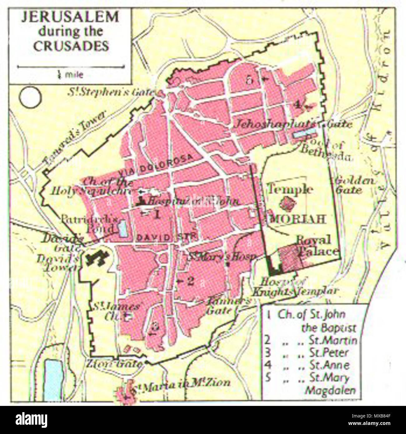 Jerusalem Karte Deutsch.English Jerusalem During The Crusades Deutsch Stadtplan Jerusalems