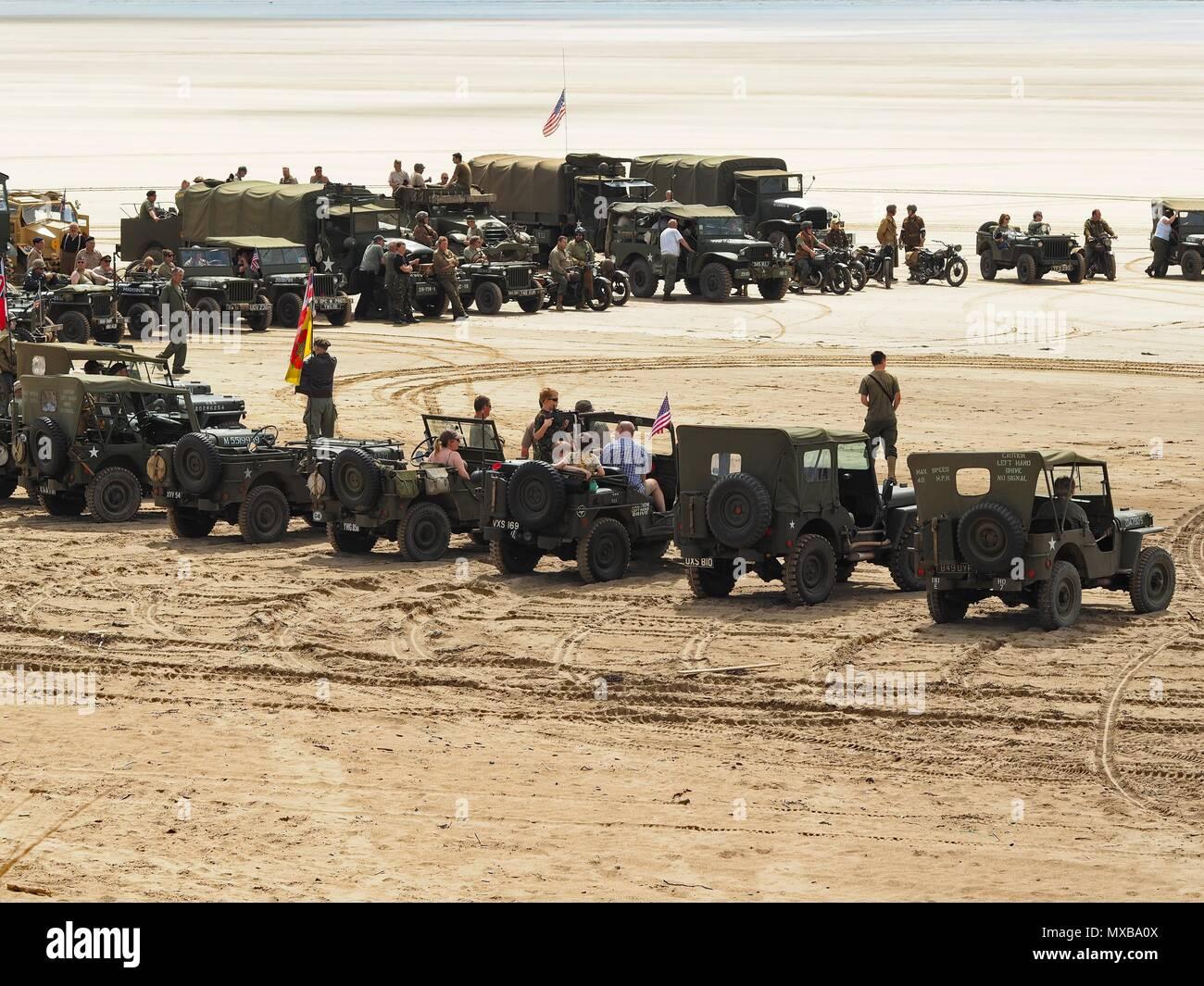 Devon D-Day 75th anniversary Saunton Beach, North Devon, UK Stock Photo