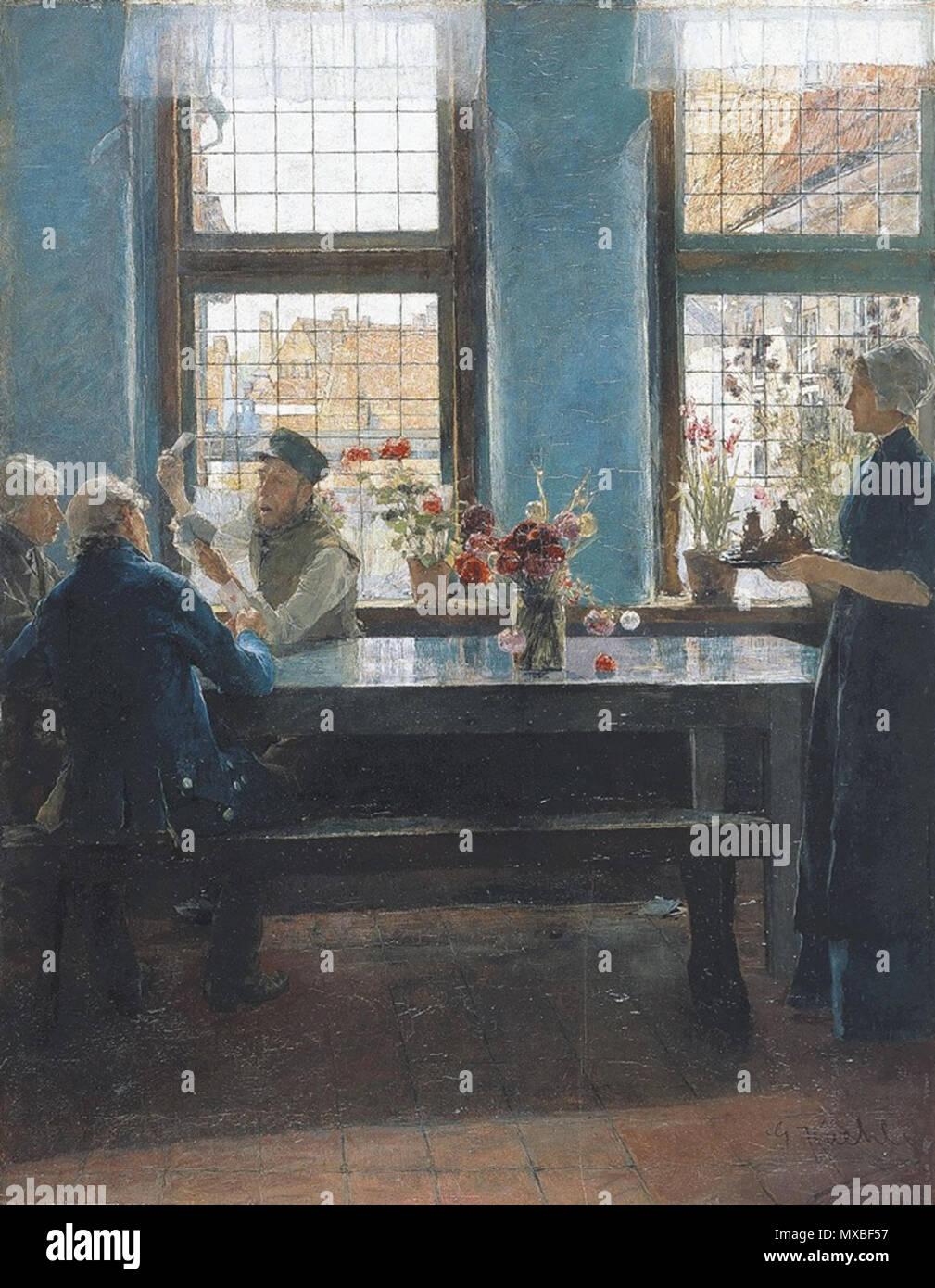 Die Skatspieler Men Playing Cards Skat In A Lbeck Interior Circa 1885 350 Kuehl