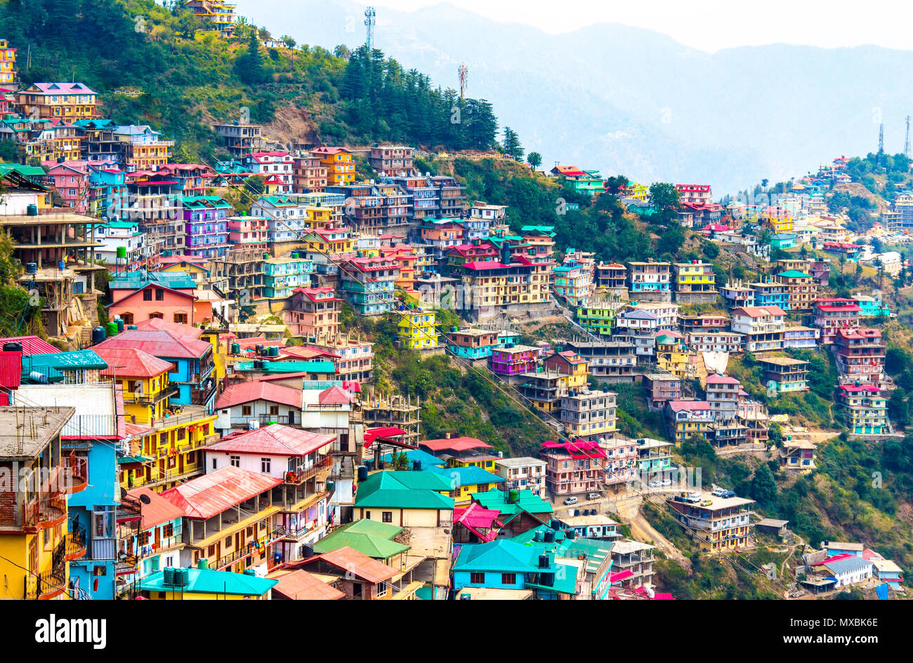 Not Brazil Nor Argentina Its my India. The beautiful landscape of Shimla situated in Himachal Pradesh. - Stock Image