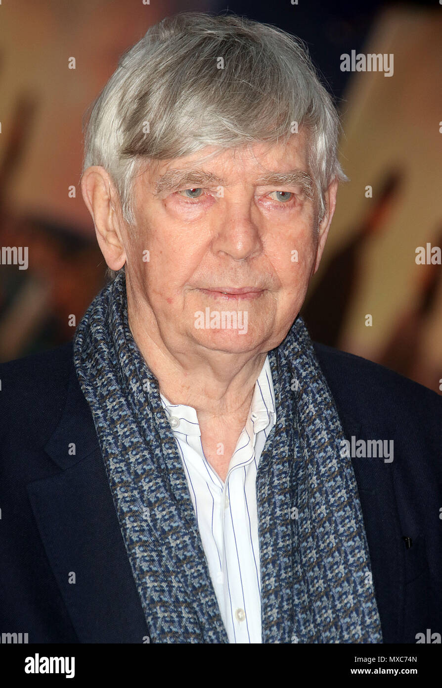 April 09, 2018 - Tom Courtenay attending The Guernsey Literary and Potato Peel Pie Society World Premiere, Curzon Mayfair in London, England, UK - Stock Image