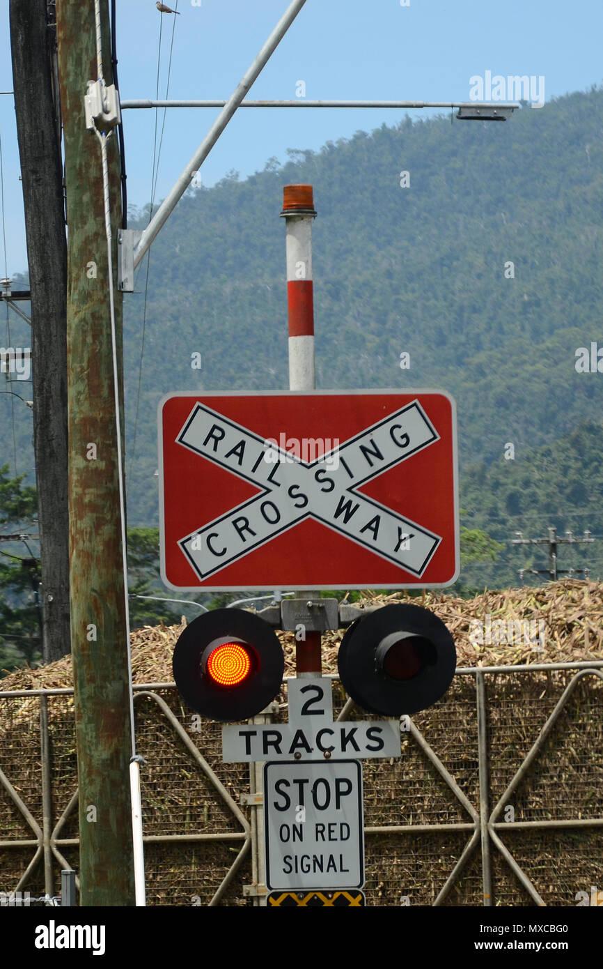 rural railway crossing - Stock Image