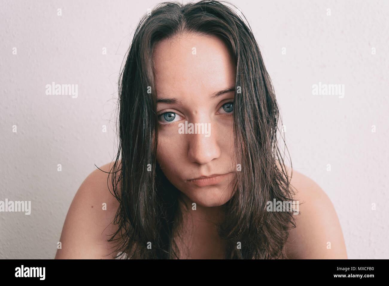 0e8e7d1e3b17f8 Girl Black Hair And Blue Eyes Stock Photos   Girl Black Hair And ...