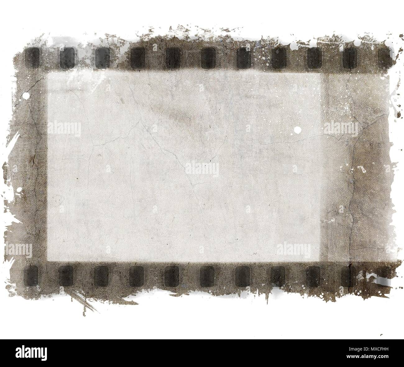 Retro film strip frames in sepia tones with copy space. - Stock Image