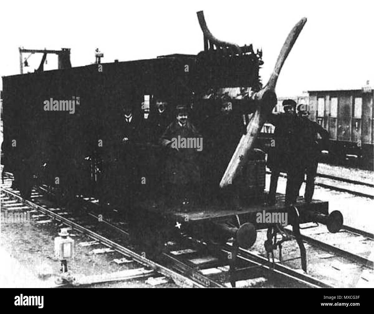 . Propellor-Driven Locomotive . 1919. archiv 375 Loco Dringos - Stock Image