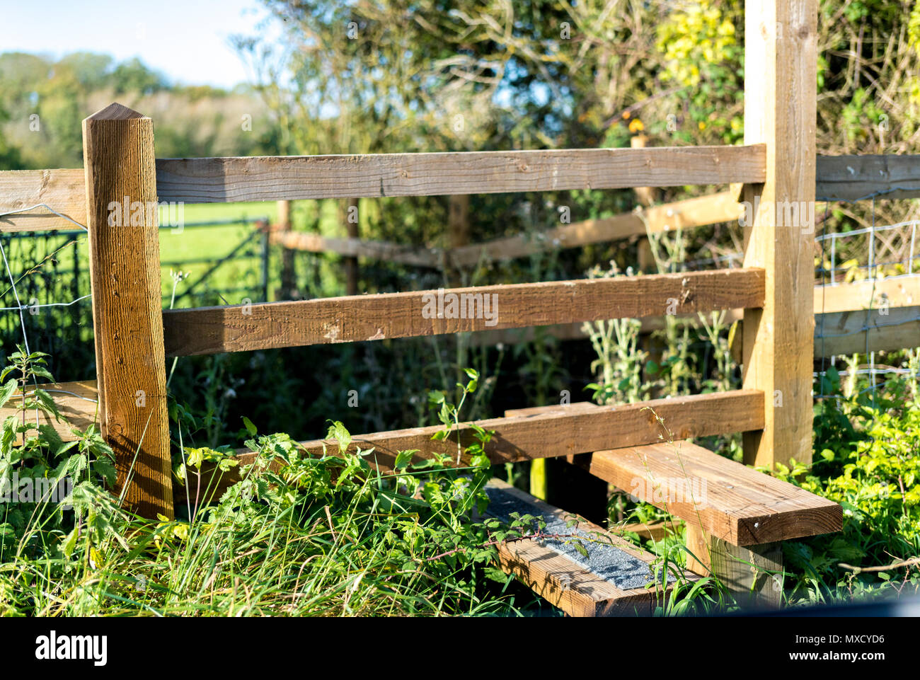Typical Country Stile In Gloucestershire And The Cotswolds Uk Stock