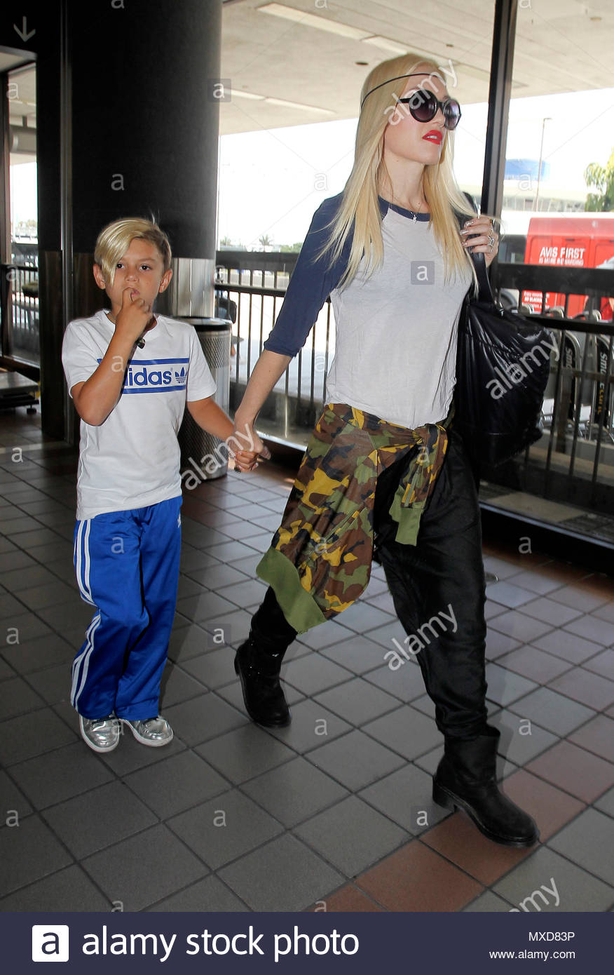 Gwen Stefani And Kingston Rossdale Gwen Stefani With Hair
