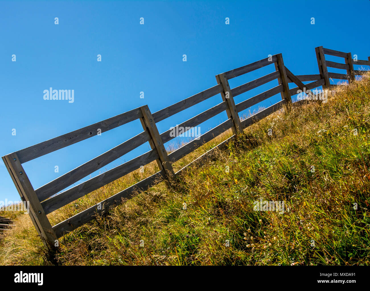 Barriers in a countryside. Auvergne. France Stock Photo