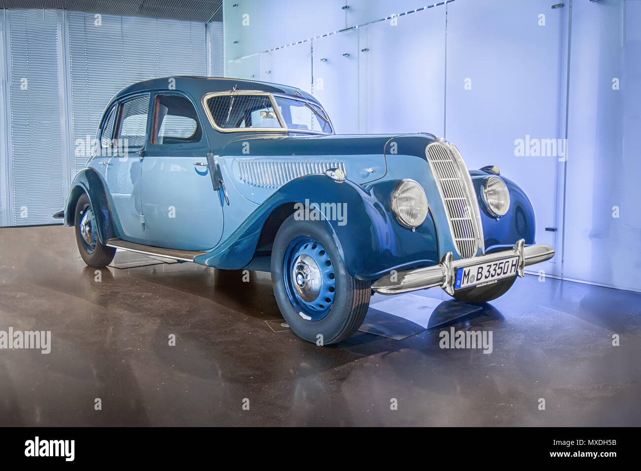 MUNICH, GERMANY-APRIL 8, 2017: 1939 BMW 335 in the BMW Museum Stock ...