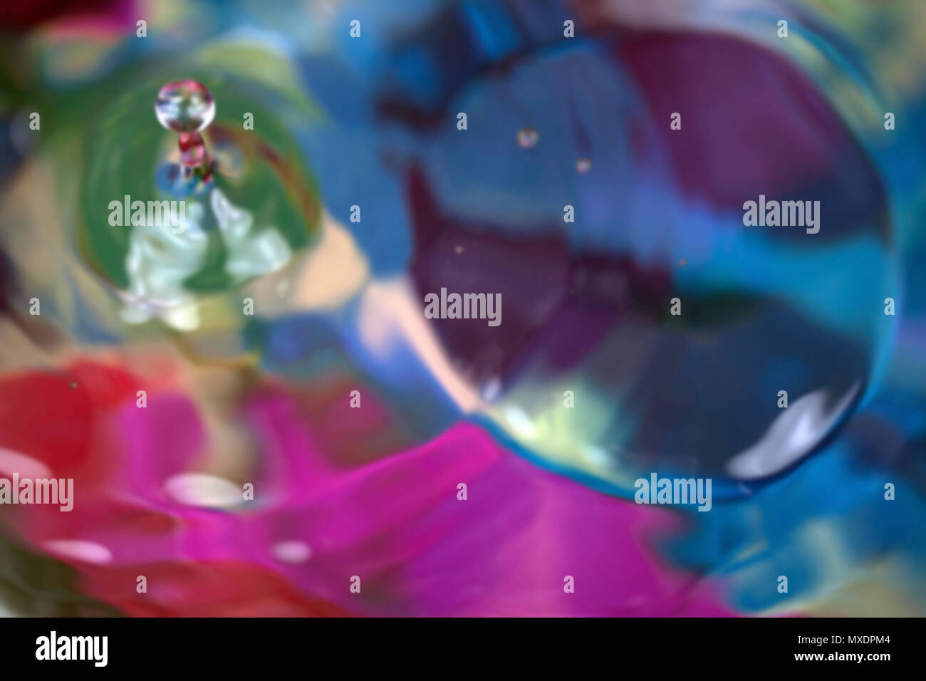 Abstract droplet , colorful color background - Stock Image