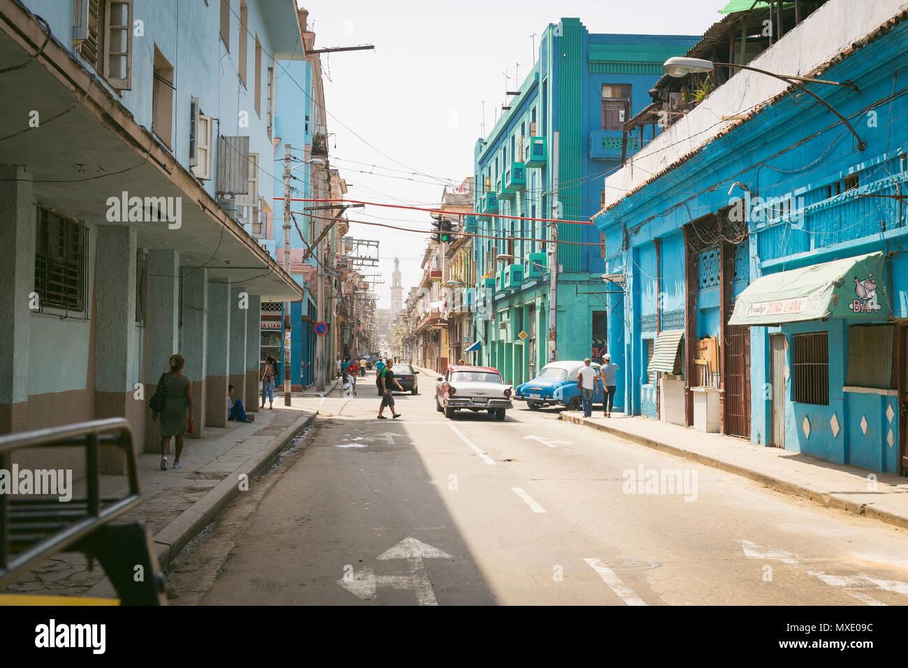 Strolling streets of Havana, Cuba - Stock Image